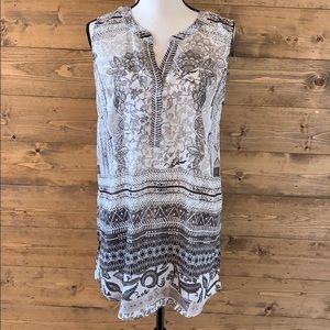 Sharon Young Satiny feel tunic sleeveless blouse